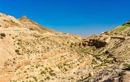 Ajardine em Toujane, uma aldeia da montanha do Berber em Tunísia do sul Foto de Stock