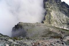Ajardine em uma passagem de montanha no Tatras alto slovakia Fotografia de Stock Royalty Free