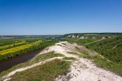 Ajardine en el valle de Don River en Rusia central Fotos de archivo libres de regalías
