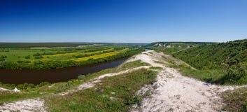 Ajardine en el valle de Don River en Rusia central Fotografía de archivo libre de regalías