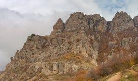 Ajardine en el valle de fantasmas en península crimea Fotografía de archivo libre de regalías
