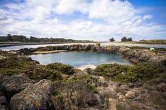 Ajardine estrada feericamente melbourne Austrália do oceano do porto da ilha de Griffiths na grande Imagem de Stock