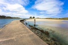Ajardine estrada feericamente melbourne Austrália do oceano do porto da ilha de Griffiths na grande Fotografia de Stock Royalty Free