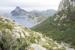 ajardine, formentor do cabo na ilha de Majorca na Espanha CLI Imagens de Stock