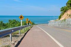 Ajardine a foto da estrada alta da maneira em oriental de Tailândia Fotografia de Stock