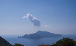 Ajardine a ilha de Capri, vista da vila dos términos Fotos de Stock Royalty Free