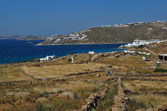Ajardine, ilha de Mykonos, ilhas de Cyclades Foto de Stock