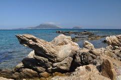 Ajardine a ilha do figaroli em sardinia no verão de Italia Foto de Stock Royalty Free