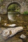 Ajardine a imagem da ponte medieval no ajuste do rio em c inglês Imagens de Stock Royalty Free