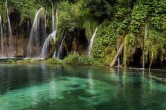 Ajardine a imagem do parque nacional dos lagos Plitvice Imagem de Stock Royalty Free