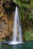 Ajardine a imagem do parque nacional dos lagos Plitvice Fotografia de Stock