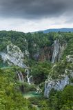 Ajardine a imagem do parque nacional dos lagos Plitvice Fotos de Stock Royalty Free
