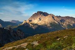 Ajardine Itália, dolomites - nascer do sol nas montanhas Fotos de Stock