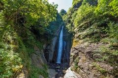 Ajardine la cascada de Smolare - la cascada más alta del República de Macedonia Fotografía de archivo