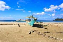 Ajardine la playa de Nacpan La isla de Palawan Fotos de archivo libres de regalías