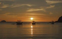 Ajardine la playa de Nacpan La isla de Palawan Fotografía de archivo