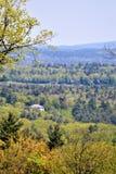 Ajardine la visión, al sur del centro de ciudad de Harrisville, Cheshire County, New Hampshire, Estados Unidos fotos de archivo