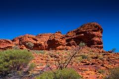 Ajardine la visión en reyes Canyon, Australia interior Fotos de archivo