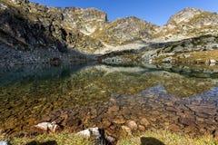 Ajardine lagos Elenski perto do pico de Malyovitsa, montanha de Rila Imagens de Stock