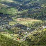 Ajardine Lanzarote, cidade pequena com cultivo do terraço Fotos de Stock