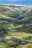 Ajardine Lanzarote, cidade pequena com cultivo do terraço Fotografia de Stock Royalty Free