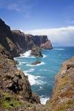 Ajardine na costa norte de Ponta de Sao Lourenco, a parte easternmost da ilha de Madeira Fotos de Stock Royalty Free