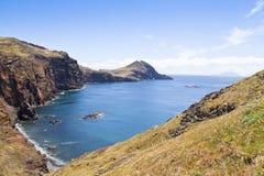 Ajardine na costa norte de Ponta de Sao Lourenco, a parte easternmost da ilha de Madeira Fotografia de Stock
