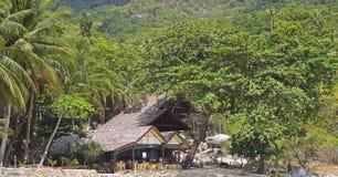 Ajardine na ilha de Koh Phangan, praia engarrafada, Tailândia Imagens de Stock