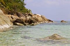 Ajardine na ilha de Koh Phangan, praia engarrafada, Tailândia Imagem de Stock