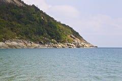 Ajardine na ilha de Koh Phangan, praia engarrafada, Tailândia Imagem de Stock Royalty Free