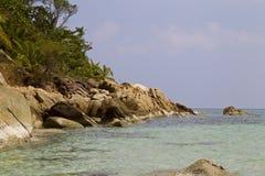 Ajardine na ilha de Koh Phangan, praia engarrafada, Tailândia Foto de Stock