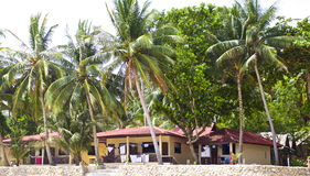 Ajardine na ilha de Koh Phangan, praia engarrafada, Tailândia Fotografia de Stock Royalty Free