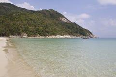 Ajardine na ilha de Koh Phangan, praia engarrafada, Tailândia Foto de Stock Royalty Free