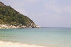 Ajardine na ilha de Koh Phangan, praia engarrafada, Tailândia Imagens de Stock Royalty Free