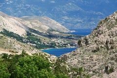 Ajardine na ilha de Krk, Croácia, Europa Imagens de Stock
