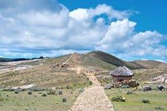 Ajardine na ilha do Sun no lago Titicaca Fotografia de Stock Royalty Free