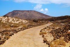 Ajardine na ilha Lobos, Fuerteventura, Espanha Imagem de Stock Royalty Free