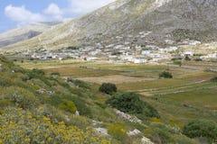 Ajardine na parte nortenha de Karpathos, Grécia Imagens de Stock Royalty Free