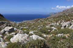Ajardine na parte nortenha de Karpathos, Grécia Imagem de Stock Royalty Free