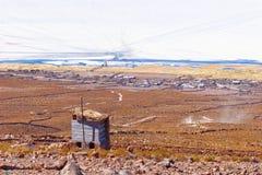 Ajardine na vila de Coqueza, plano de sal de Uyuni, Bolívia Imagens de Stock