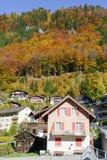 Ajardine na vila de Engelberg em Suíça Imagem de Stock