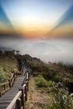 Ajardine nas montanhas Foto de Stock Royalty Free