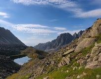 Ajardine nas montanhas do Sayan oriental Fotografia de Stock