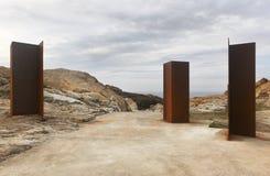 Ajardine no cabo de Creus com caminho na costa mediterrânea Foto de Stock Royalty Free