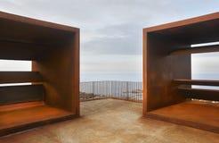 Ajardine no cabo de Creus com ponto de vista na costa mediterrânea Fotografia de Stock Royalty Free