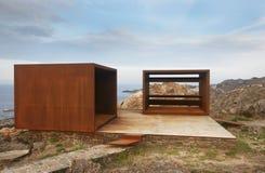 Ajardine no cabo de Creus com ponto de vista na costa mediterrânea Imagens de Stock Royalty Free