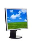 Ajardine no ecrã de computador Fotografia de Stock Royalty Free