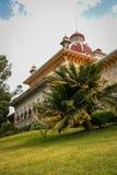 Ajardine no parque de Monseraty com casa bonita, Cintra, Portug Fotografia de Stock Royalty Free