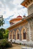 Ajardine no parque de Monseraty com casa bonita, Cintra, Portug Imagens de Stock