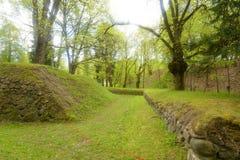 Ajardine no parque na fortaleza de Lappeenranta, Fotos de Stock Royalty Free